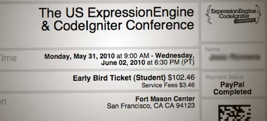 My EE/CI ticket